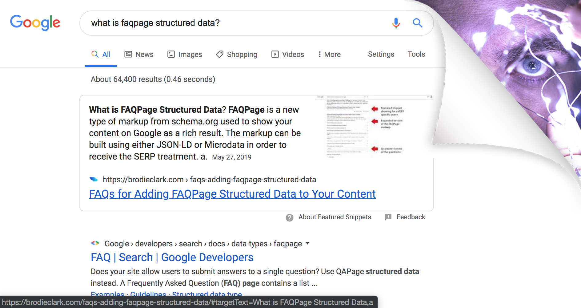featured snippet more than what meets the eye