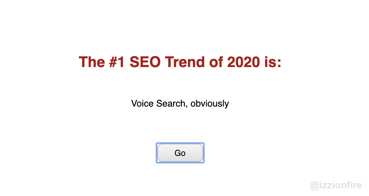 seo trends 2020 voice search