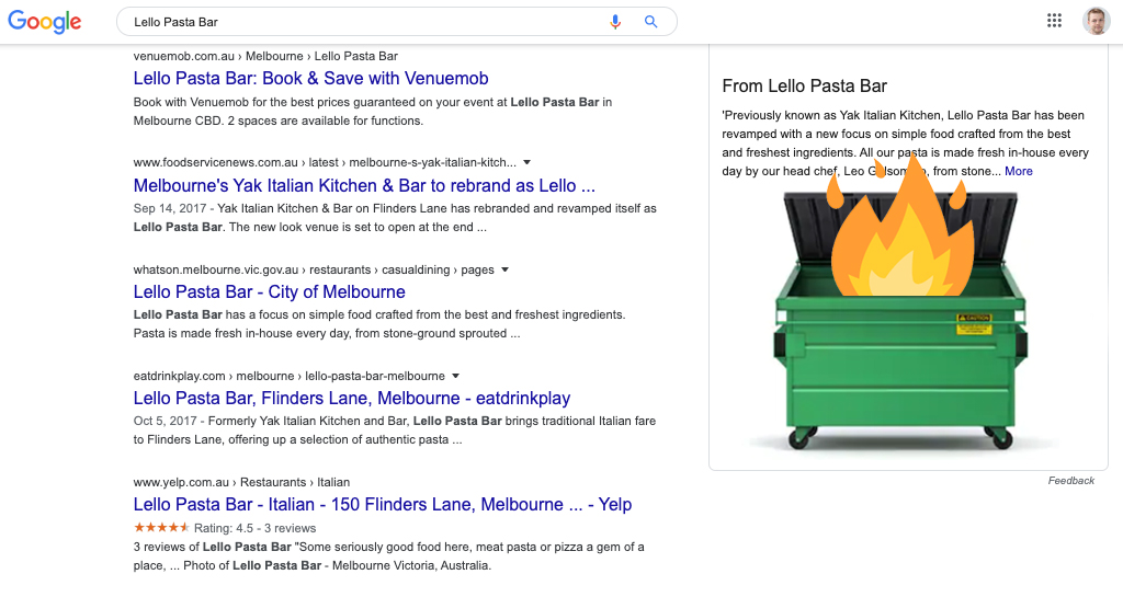 google my business description field impact on ranking