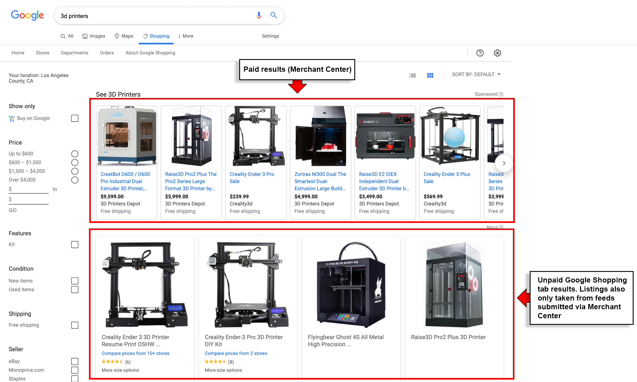 Structured Data Markup Not Supported for Unpaid Listings in Google Shopping Tab Example