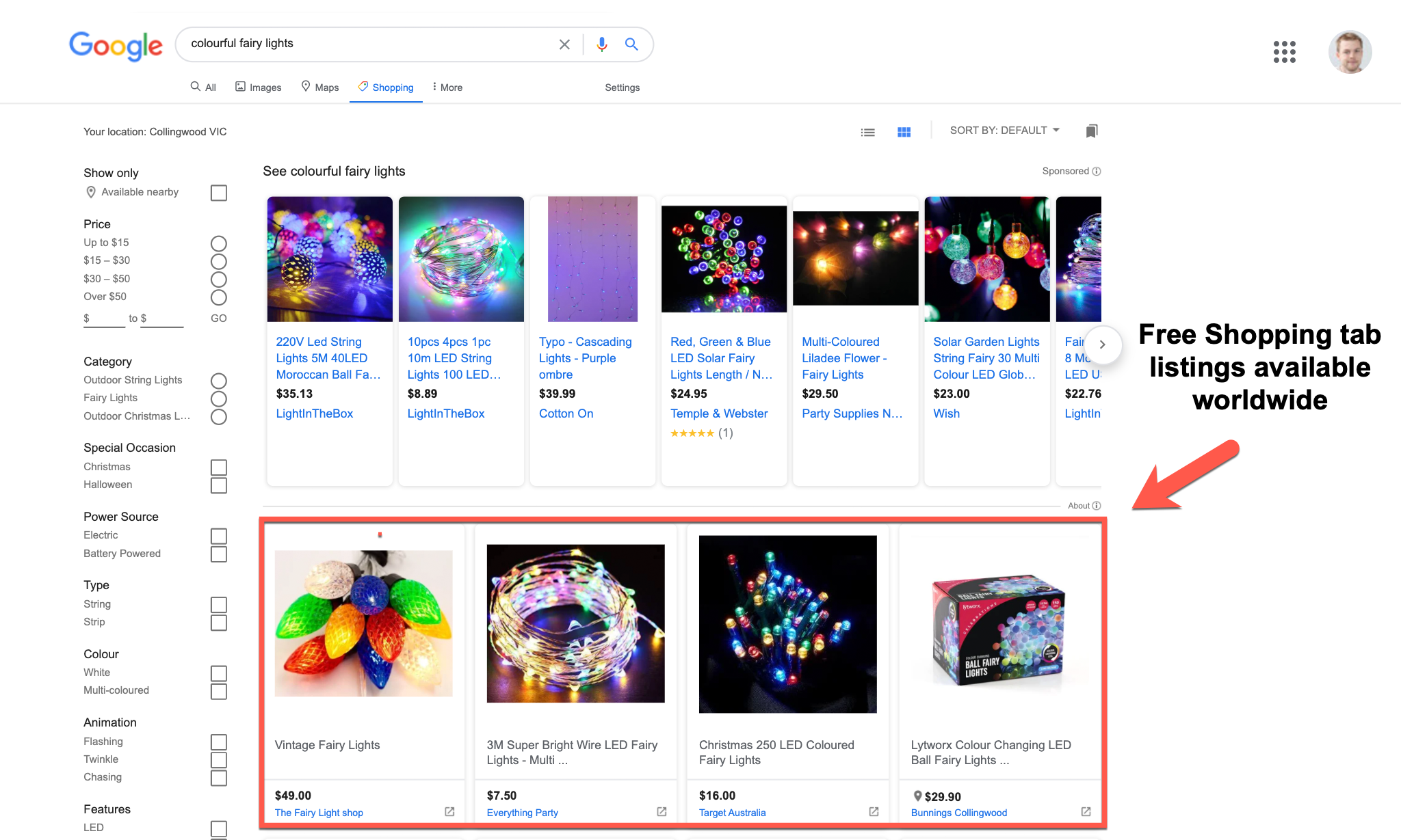 google unpaid shopping tab listing official launch