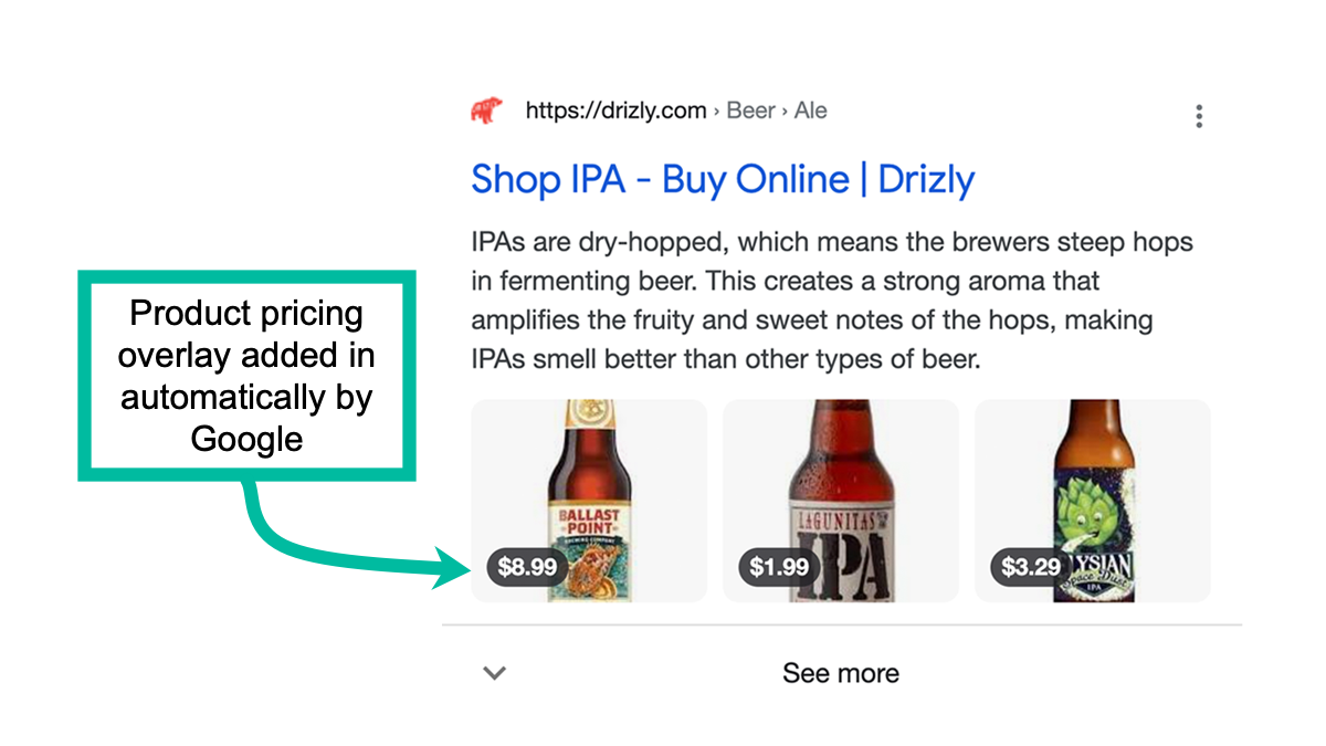 Google Testing New Display for eCommerce Product Category Pages
